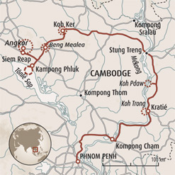 Circuit carte Cambodge : Iles, temples et villages flottants du Cambodge