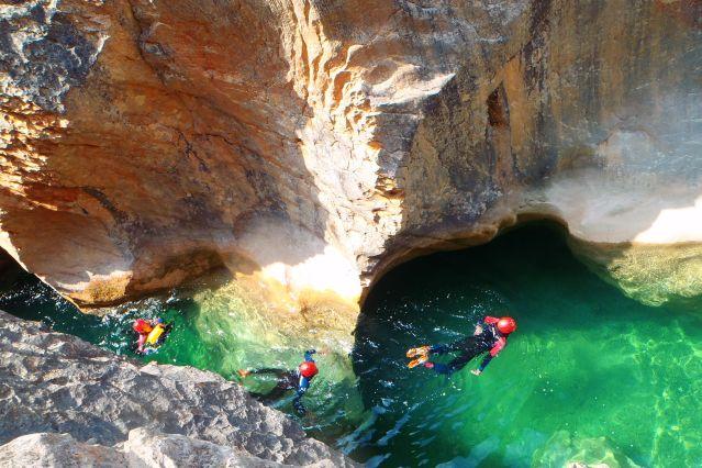 Voyage Aventures canyon en Sierra de Guara