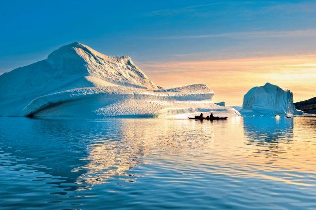 Voyage En kayak, des fjords à la calotte polaire