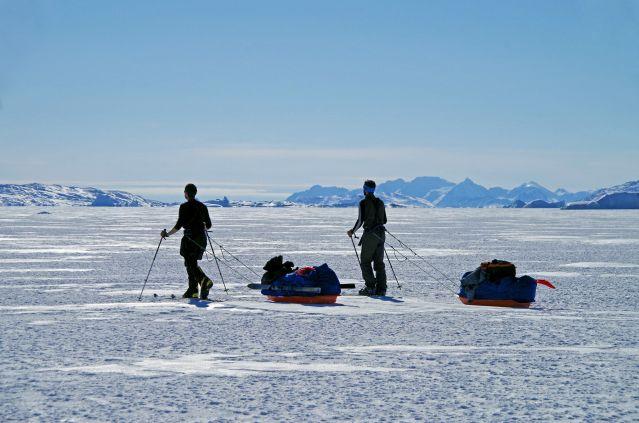 Voyage Raid à ski sur la banquise du Groenland
