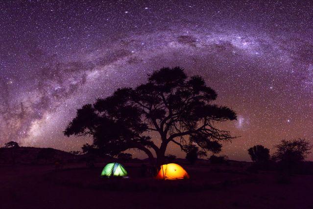 Family trip sous les étoiles
