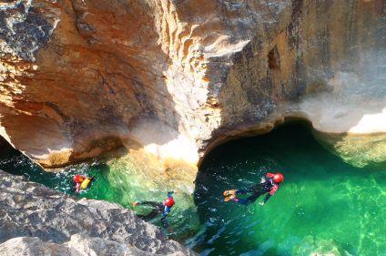 Aventures canyon en Sierra de Guara