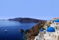Les îles de Naxos, Amorgos et Santorin