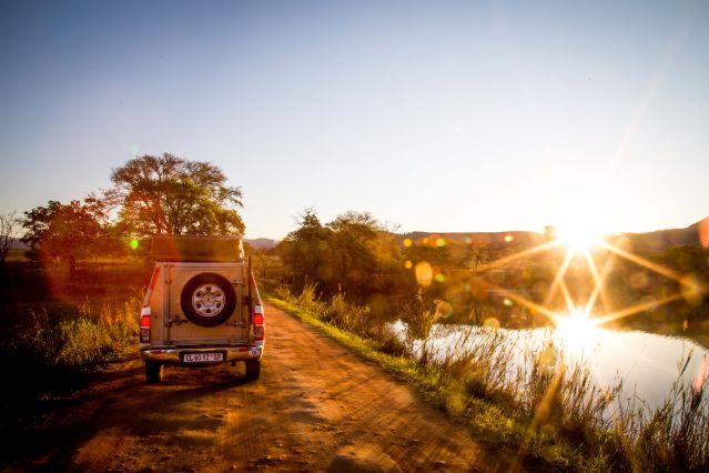 Voyage En piste pour les grands espaces d'Afrique du Sud